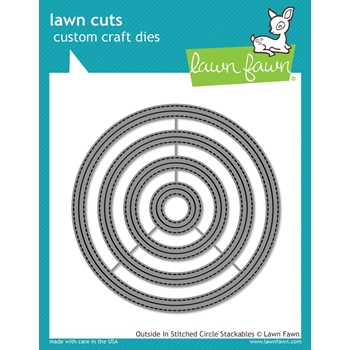 Lawn Fawn OUTSIDE IN STITCHED CIRCLE STACKABLES Lawn Cuts LF1441