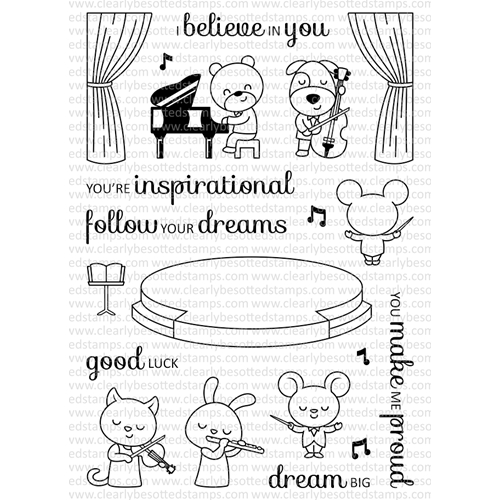 Clearly Besotted SWEET SYMPHONY Clear Stamp Set  Preview Image