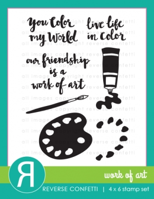 Reverse Confetti WORK OF ART Clear Stamp Set* Preview Image