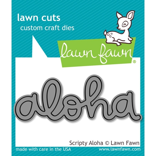 Lawn Fawn SCRIPTY ALOHA Lawn Cuts LF1431 Preview Image