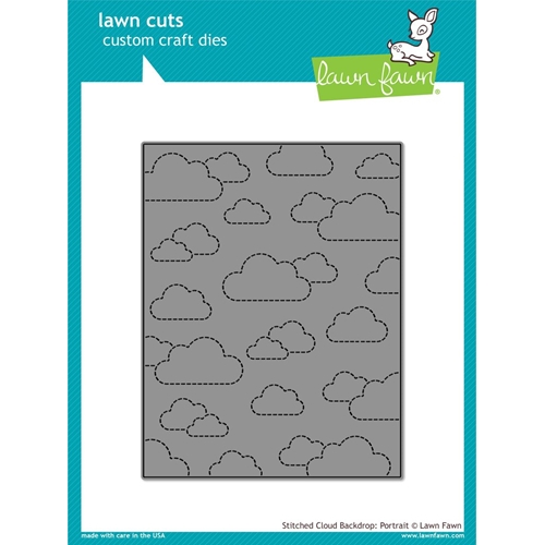 Lawn Fawn STITCHED CLOUD BACKDROP PORTRAIT Lawn Cuts LF1424 Preview Image