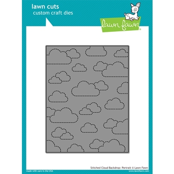 Lawn Fawn STITCHED CLOUD BACKDROP PORTRAIT Lawn Cuts LF1424