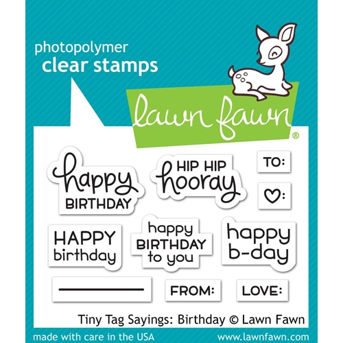 Lawn Fawn TINY TAG SAYINGS BIRTHDAY Clear Stamps LF1421 Preview Image