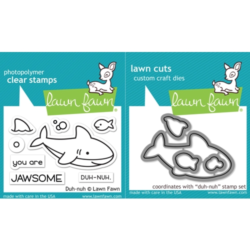 Lawn Fawn SET LF17SETDN DUH-NUH Clear Stamps and Dies Preview Image