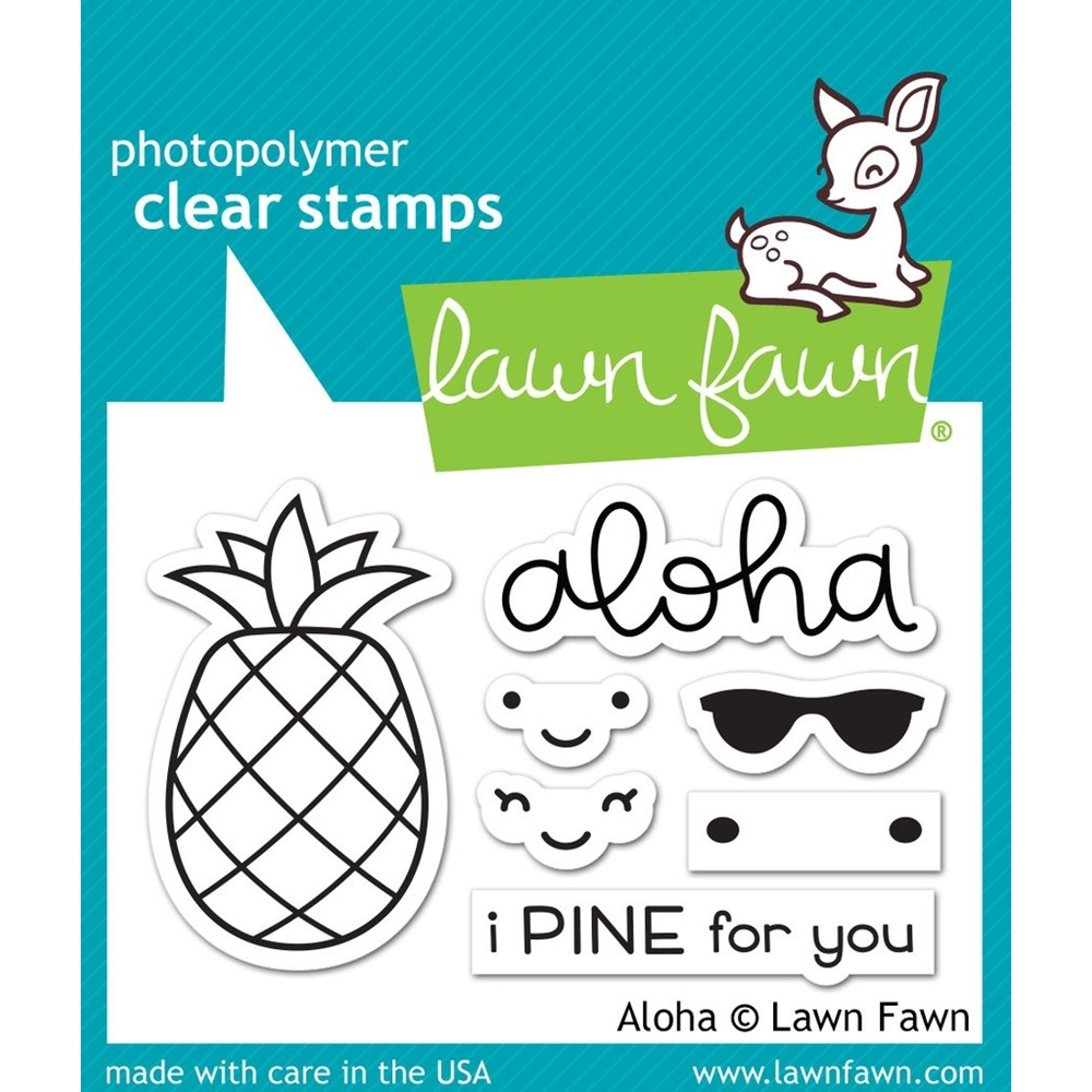 Lawn Fawn ALOHA Clear Stamps LF1417 zoom image