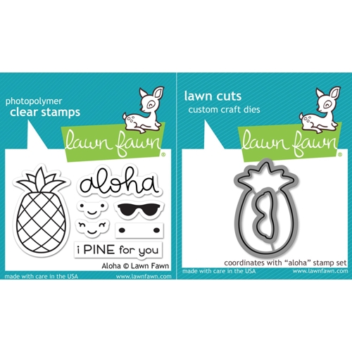 Lawn Fawn SET LF17SETA ALOHA Clear Stamps and Dies Preview Image