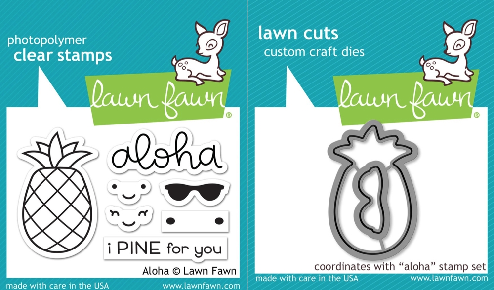 Lawn Fawn SET LF17SETA ALOHA Clear Stamps and Dies zoom image