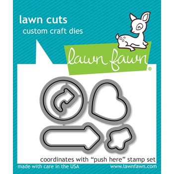 Lawn Fawn PUSH HERE Lawn Cuts LF1416
