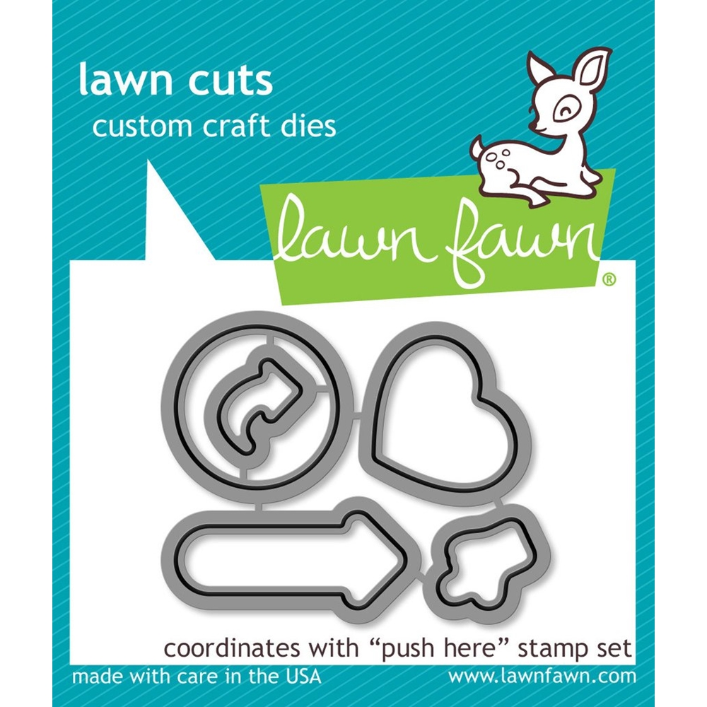 Lawn Fawn PUSH HERE Lawn Cuts LF1416 zoom image