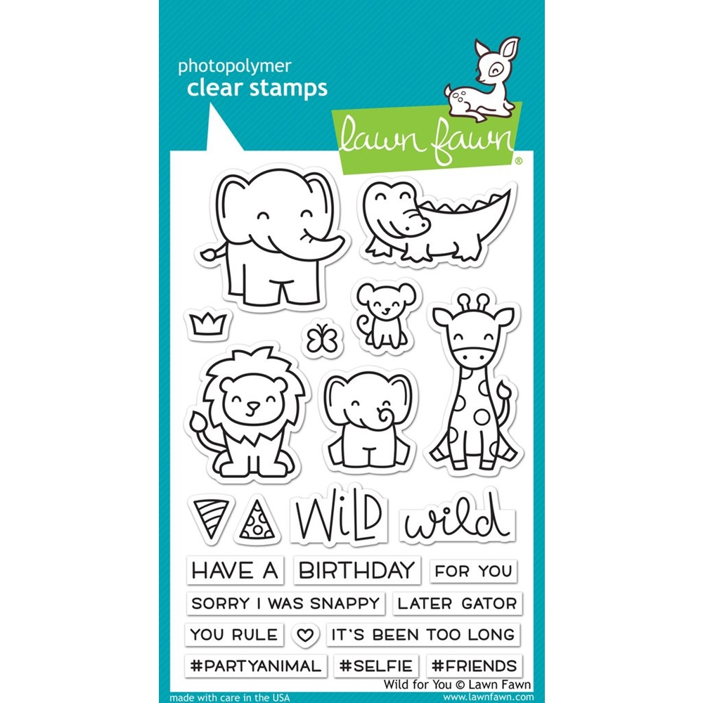 Lawn Fawn WILD FOR YOU Clear Stamps LF1413 zoom image