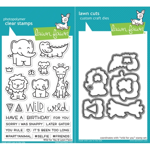 Lawn Fawn LF17SETWFY WILD FOR YOU Clear Stamps and Dies Preview Image