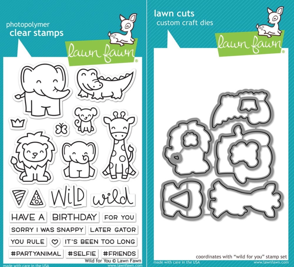 Lawn Fawn LF17SETWFY WILD FOR YOU Clear Stamps and Dies zoom image