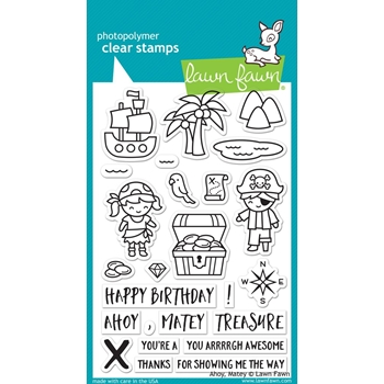 Lawn Fawn AHOY MATEY Clear Stamps LF1411