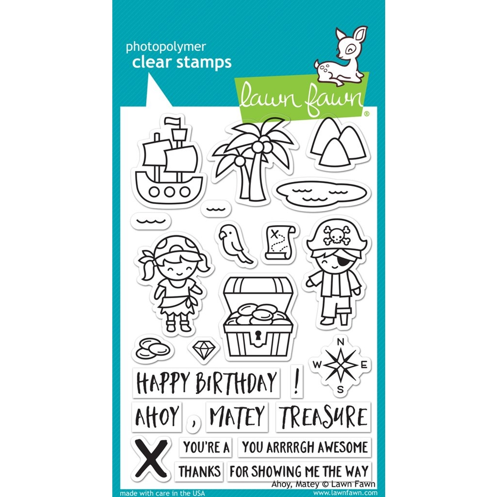 Lawn Fawn AHOY MATEY Clear Stamps LF1411 zoom image