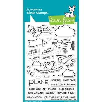 Lawn Fawn PLANE AND SIMPLE Clear Stamps LF1409