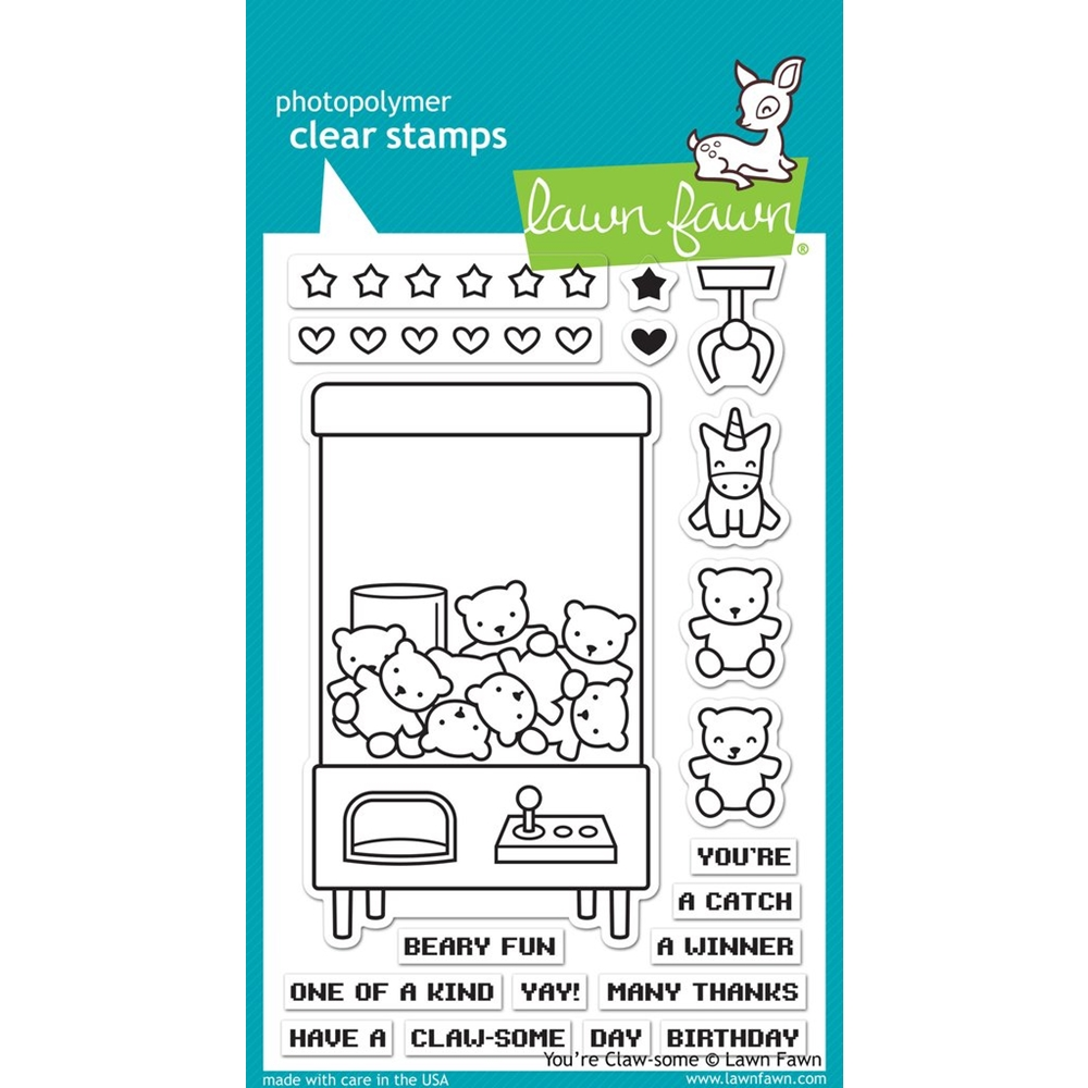 Lawn Fawn YOU'RE CLAW-SOME Clear Stamps LF1405 zoom image