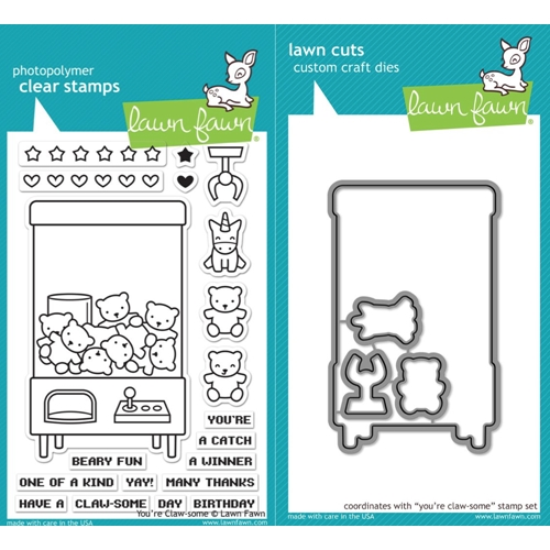 Lawn Fawn SET LF17SETYCS YOU'RE CLAW-SOME Clear Stamps and Dies Preview Image
