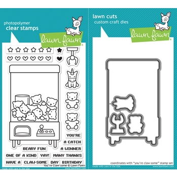 Lawn Fawn SET LF17SETYCS YOU'RE CLAW-SOME Clear Stamps and Dies