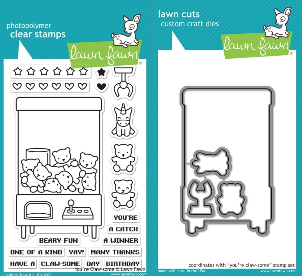 Lawn Fawn SET LF17SETYCS YOU'RE CLAW-SOME Clear Stamps and Dies zoom image