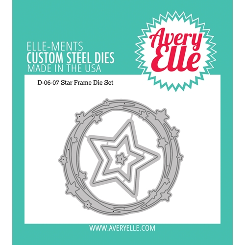 Avery Elle Steel Dies STAR FRAME D-06-07  Preview Image