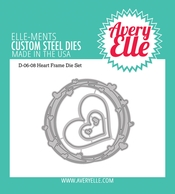 Avery Elle Steel Dies HEARTS FRAME D-06-08* Preview Image