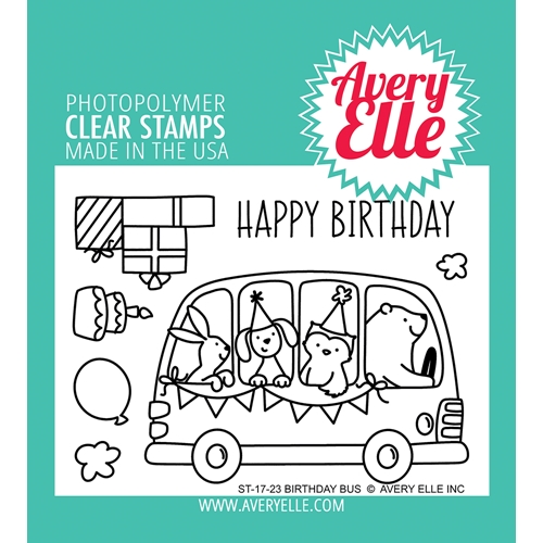 Avery Elle Clear Stamps BIRTHDAY BUS ST 17 23 Preview Image