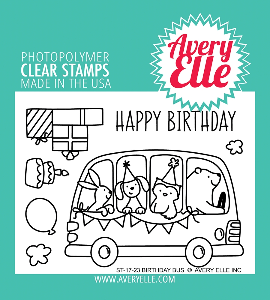 Avery Elle Clear Stamps BIRTHDAY BUS ST 17 23 zoom image