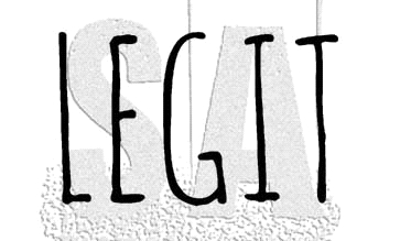 Tim Holtz Rubber Stamp LEGIT Stampers Anonymous D7-2951* Preview Image