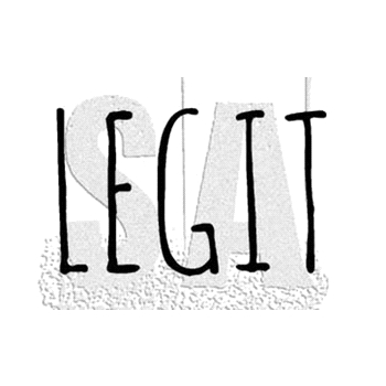 Tim Holtz Rubber Stamp LEGIT Stampers Anonymous D7-2951*