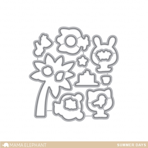 Mama Elephant SUMMER DAYS DIE Creative Cuts Set* Preview Image