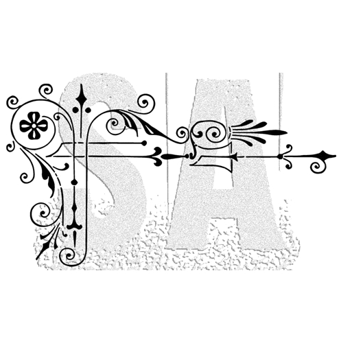 Tim Holtz Rubber Stamp SCROLL Stampers Anonymous J2-2998 Preview Image