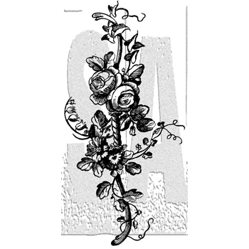 Tim Holtz Rubber Stamp FLOWER BORDER 2 Stampers Anonymous K3-3000