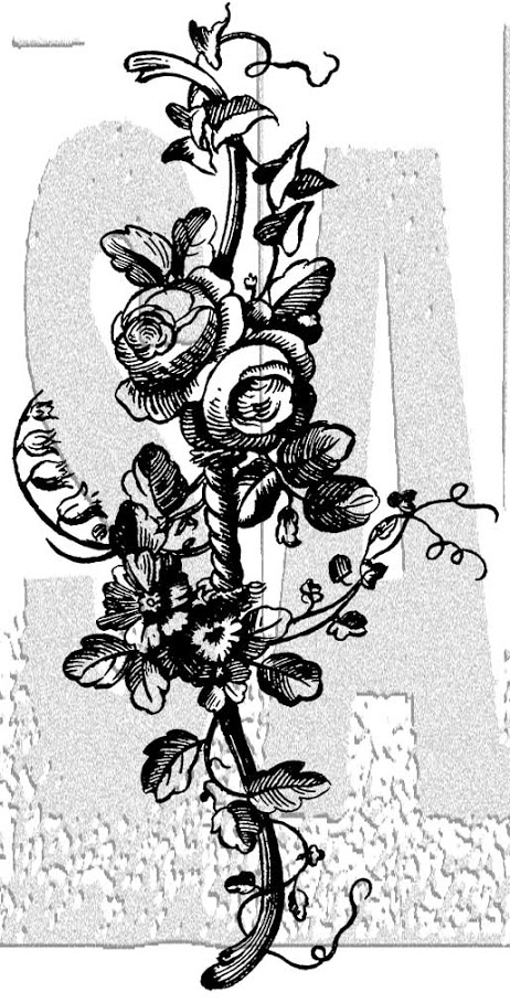 Tim Holtz Rubber Stamp FLOWER BORDER 2 Stampers Anonymous K3-3000 zoom image