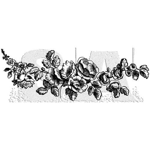 Tim Holtz Rubber Stamp FLOWER BORDER 1 Stampers Anonymous P6-3003* Preview Image