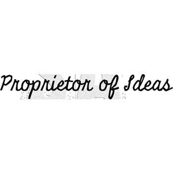 Tim Holtz Rubber Stamp PROPRIETOR OF IDEAS Stampers Anonymous G3-3011