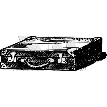 Tim Holtz Rubber Stamp SUITCASE Stampers Anonymous J5-3014