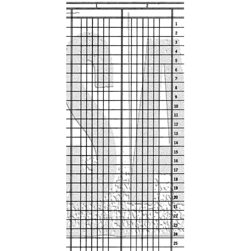 Tim Holtz Rubber Stamp LEDGER LINES Stampers Anonymous U3-3030 Preview Image