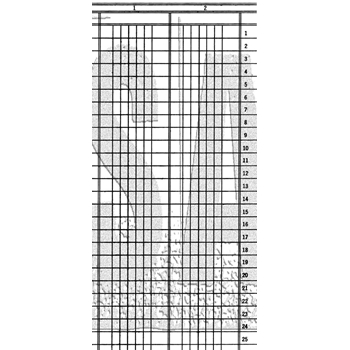Tim Holtz Rubber Stamp LEDGER LINES Stampers Anonymous U3-3030