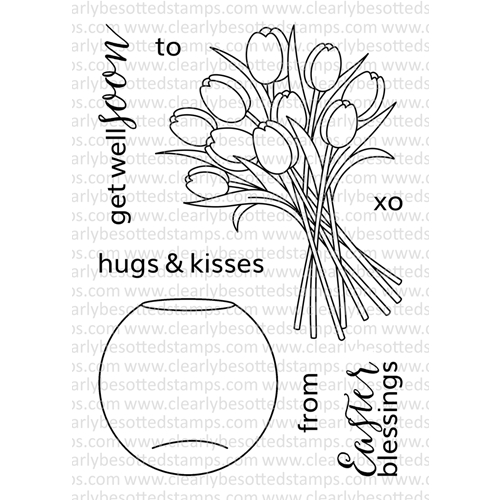 Clearly Besotted THANKS A BOUQUET ADDITIONS Clear Stamp Set Preview Image