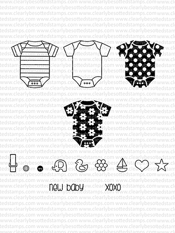 Clearly Besotted LITTLE ONESIE II Clear Stamp Set zoom image