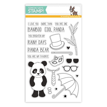 Simon Says Clear Stamps COOL PANDA SSS101752 Cherished *
