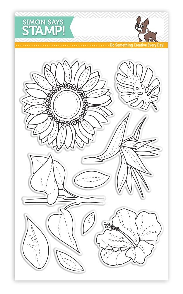 Simon Says Clear Stamps SUMMER FLOWERS SSS101726 Cherished zoom image