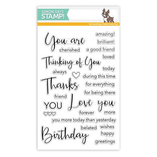 Simon Says Clear Stamps THOUGHTFUL MESSAGES SSS101740 Cherished Preview Image