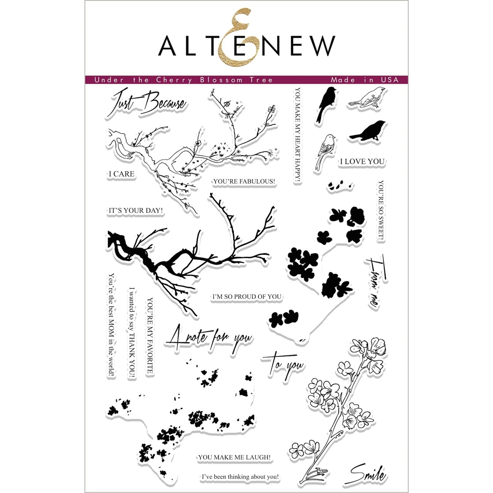 Altenew UNDER THE CHERRY BLOSSOM Clear Stamp Set ALT1701 zoom image