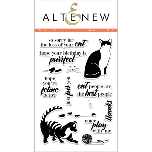 Altenew MODERN CATS Clear Stamp Set ALT1696 Preview Image