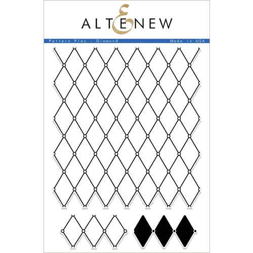 Altenew PATTERN PLAY DIAMOND Clear Stamp Set ALT1698 Preview Image