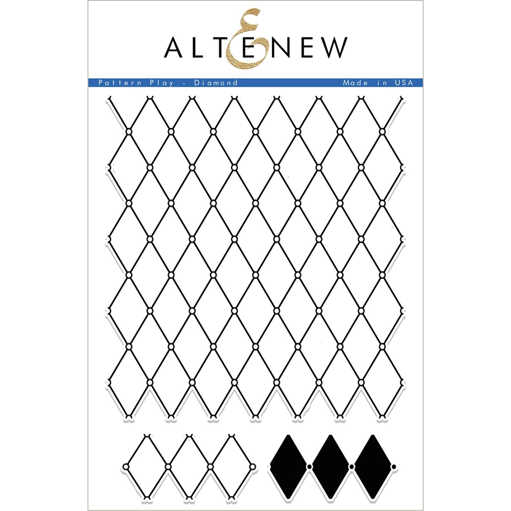 Altenew PATTERN PLAY DIAMOND Clear Stamp Set ALT1698 zoom image