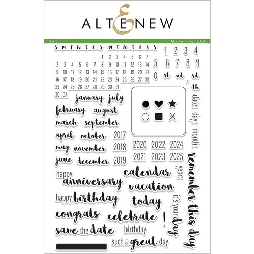 Altenew 365 Clear Stamp Set ALT1683 Preview Image