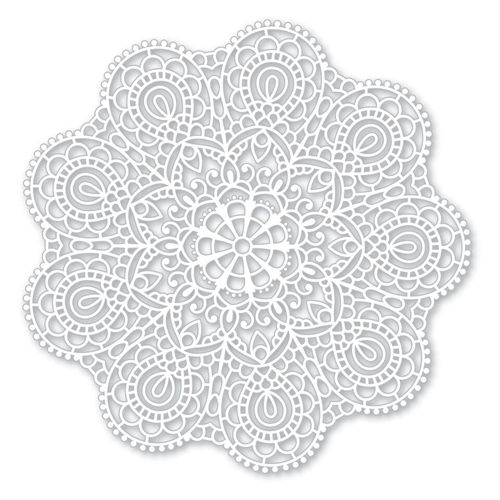 Simon Says Stamp Circular Lace stencil