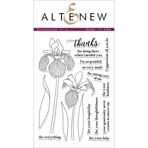 Altenew ENCHANTED IRIS Clear Stamp Set ALT1689 Preview Image